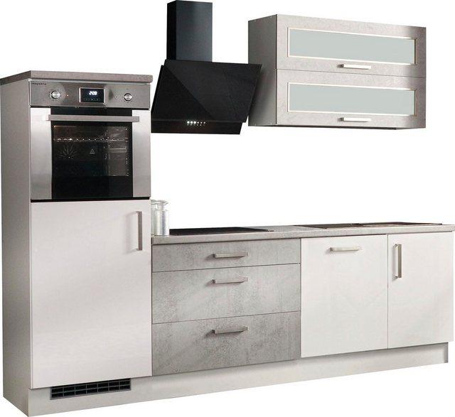 Einbauküchen - RESPEKTA Küchenzeile »Lier«, mit E Geräten, Breite 260 cm  - Onlineshop OTTO