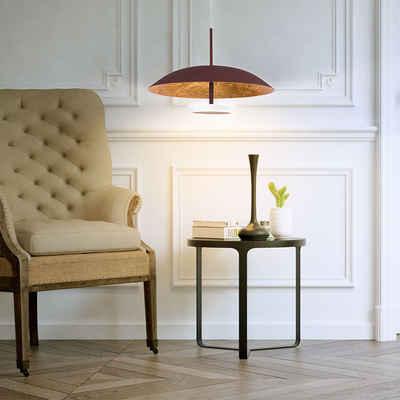 WOFI Pendelleuchte, LED Pendelleuchte Deckenlampe Esstischleuchte Hängeleuchte braun gold, 4,5W 400lm 3000K, DxH 21,5 x 150