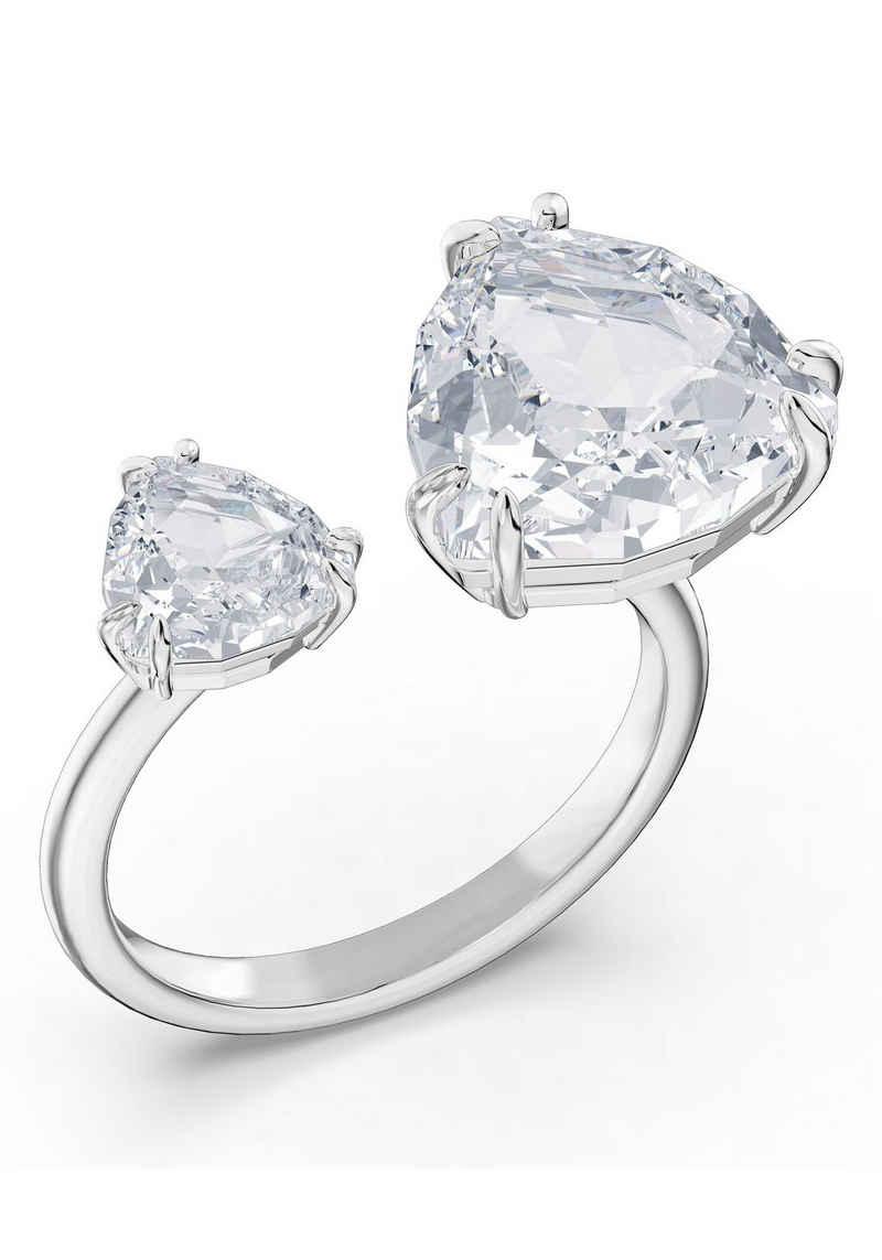 Swarovski Fingerring »Millenia Cocktail Ring, Kristalle im Triangle Schliff, 5610390,5609007/-2847/-9005,5610391«, mit Swarovski® Kristall