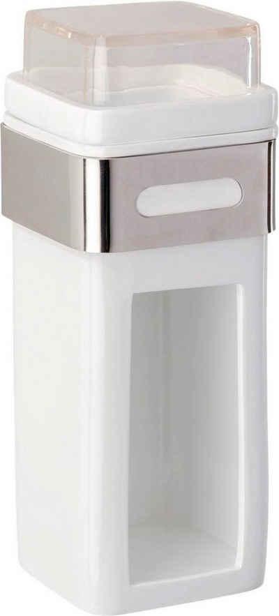 WENKO Wattepadspender »Premium Plus«, Wattepad- und Ohrstäbchenhalter, Edelstahl