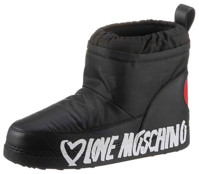 LOVE MOSCHINO Winterboots mit Herz-Applikation an der Ferse