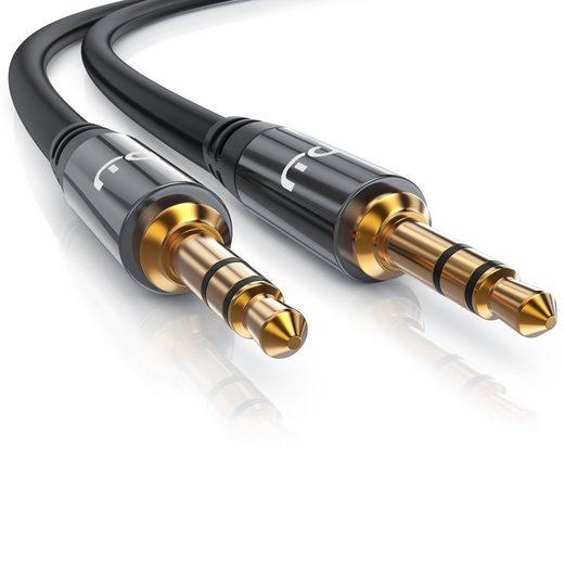 Primewire Audio-Kabel, 3.5mm Klinke; 3.5mm Klinke (300 cm), HiFi AUX Klinkenkabel für Audiogeräte Premium Series
