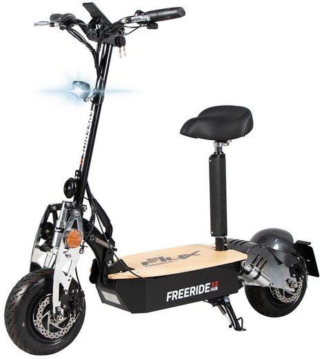 eFlux E-Scooter »Freeride X2 Elektroroller«, 2500 W, 45 km/h, E-Scooter mit Straßenzulassung