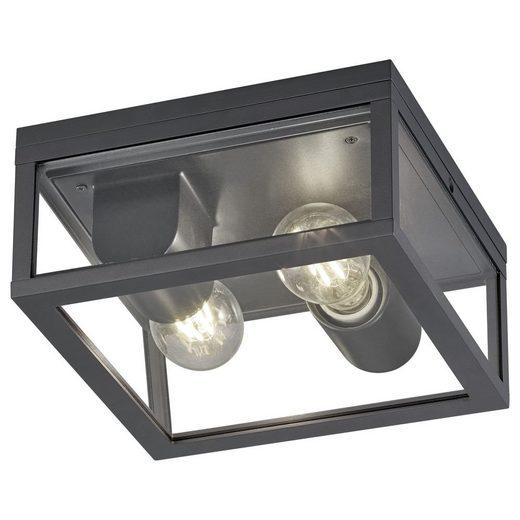 click-licht Deckenleuchte »Deckenleuchte Garonne in Anthrazit und Transparent«, Aussenlampe, Aussenwandleuchte, Outdoor-Leuchte