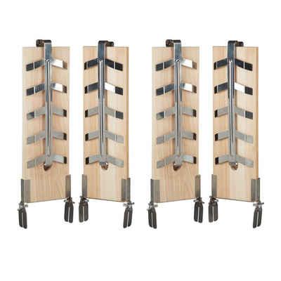 relaxdays Grillguthalter »4 x Flammlachsbretter«, Holz