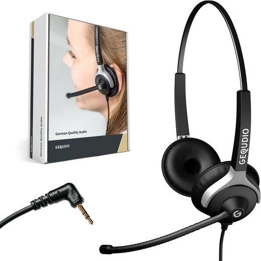 GEQUDIO Headset (Headset 2-Ohr mit 2,5mm Klinke)