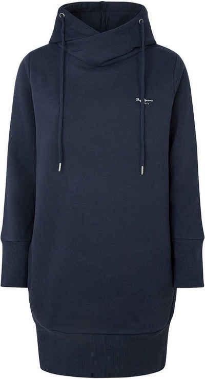 Pepe Jeans Sweatkleid »GISELA« mit großer Kapuze mit Kordelzug, seitlichen Eingrifftaschen und breiten Bündchen