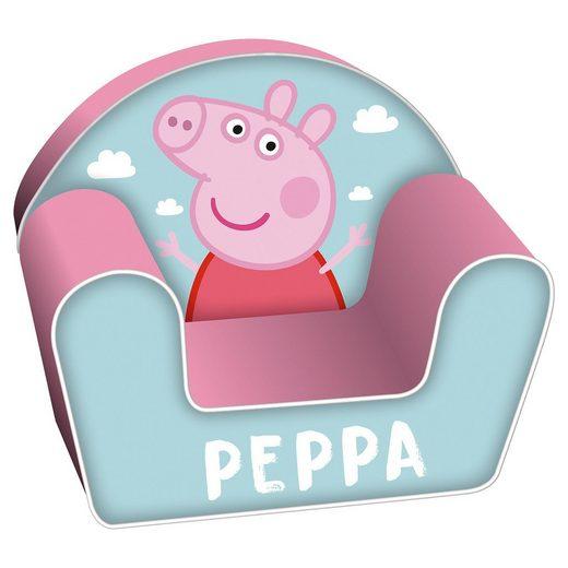 Schaumsofa mit abnehmbarem Bezug, Peppa Pig, 42 x 52 x 32 cm
