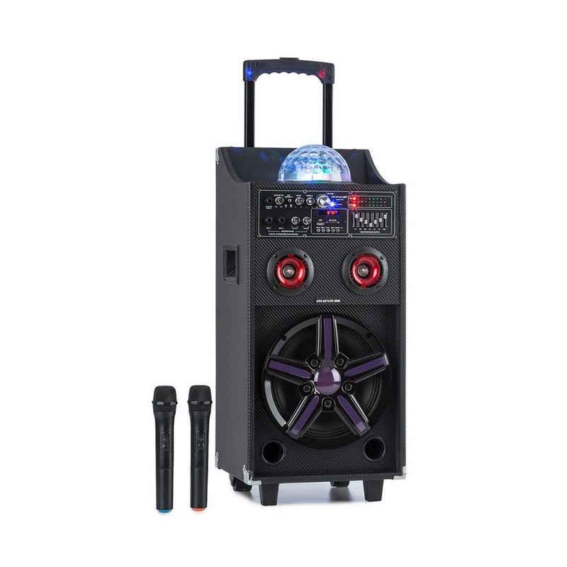 Auna DisGo Box 100 Mobile PA-Anlage 50W RMS BT SD-Slot LEDs USB Akku Portable-Lautsprecher