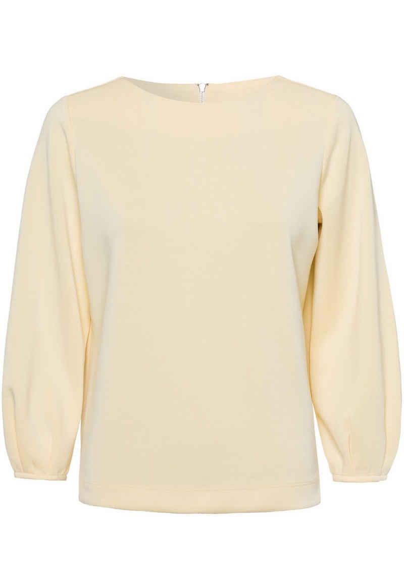 Zero Sweatshirt »mit U-Boot Ausschnitt« drapiert /gerafft