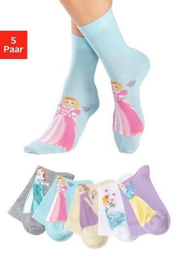 H.I.S Socken (5-Paar) mit Prinzessinnen Motiven