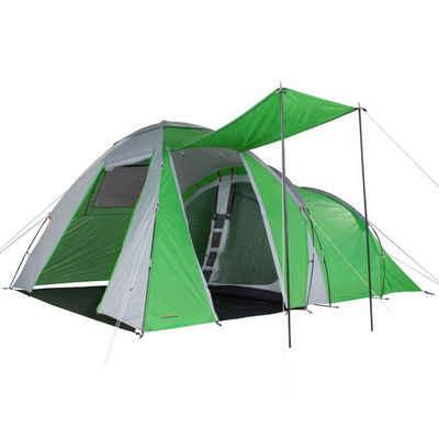 FRIDANI Kuppelzelt »Fridani DTG 500 - 5 Personen Kuppel-Zelt mit Vorraum, 3000mm, 400x300x205cm, 12,5kg, Familienzelt«, Personen: 5