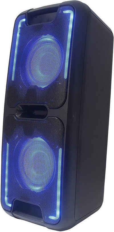 Reflexion Reflexion PS08BT mobiler Party Lautsprecher mit Akku und Lichteffekten (Bluetooth, USB, AUX, Mikrofon, 480 Watt) Party-Lautsprecher