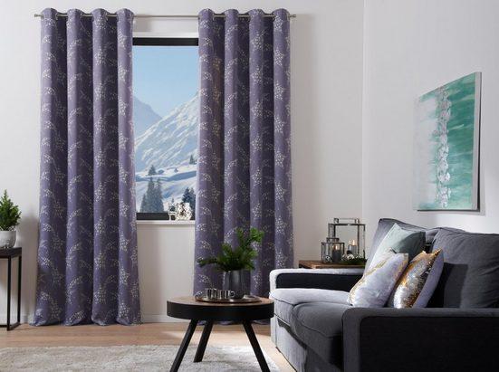 Vorhang »Sternschnuppe«, my home Selection, Ösen (1 Stück), Weihnachtsgardine