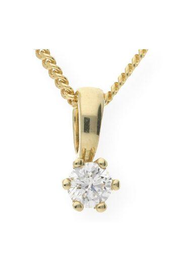 JuwelmaLux Kettenanhänger »Anhänger Gelbgold« (mit Diamant(en), ohne Kette, inkl. Schmuckschachtel