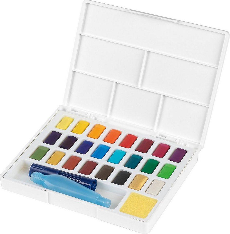 fabercastell malpalette »aquarellfarben 24 farben