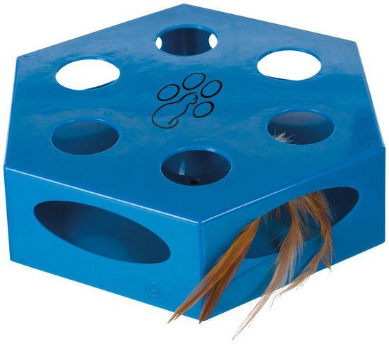 TRIXIE Katzenspielzeug »Turning Feather«, Ø: 22 cm, blau