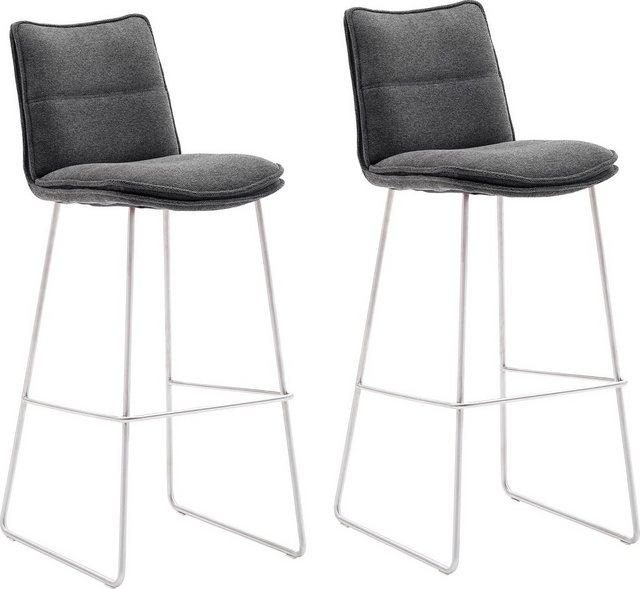 Barmöbel - MCA furniture Barhocker »Hampton« (Set, 2 St., 2 er), Barstuhl 180°drehbar mit Nivellierung, Chenille Optik, Barstuhl bis 120 Kg belastbar  - Onlineshop OTTO