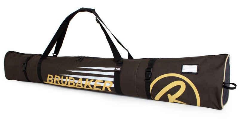 BRUBAKER Sporttasche »Carver Champion Skitasche Braun« (1-tlg., reißfest und schnittfest), gepolsterter Skisack mit Zipperverschluss