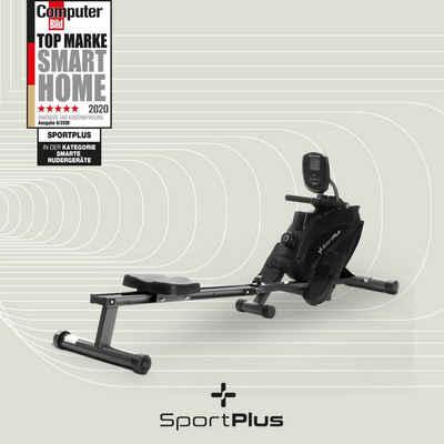 SportPlus Rudergerät »SP-MR-108-BB«, SportPlus Magnetisches Rudergerät klappbar für zuhause