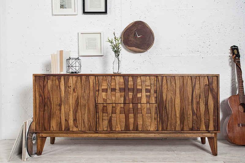 riess-ambiente Sideboard »RETRO 160cm natur«, Massivholz · Anrichte · mit 2 Schubladen · Kommode · Wohnzimmer