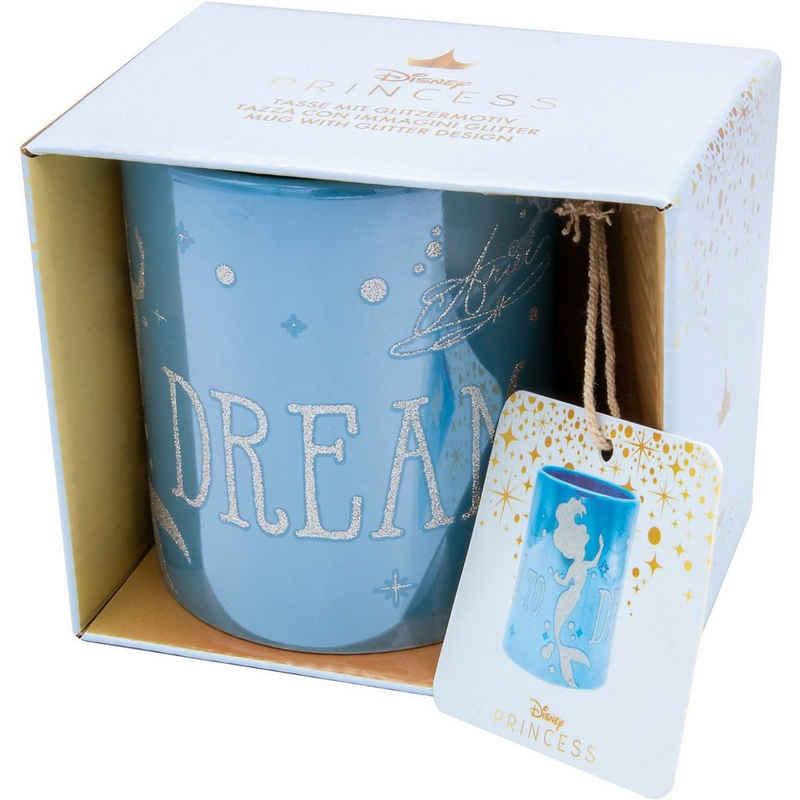 Joy Toy Tasse »Disney Ariel glänzende Tasse mit Glitzermotiven«