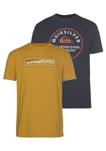 Quiksilver T-Shirt »RAINBOW COMP FLAXTON YM PACK« (Packung, 2-tlg., 2er-Pack)