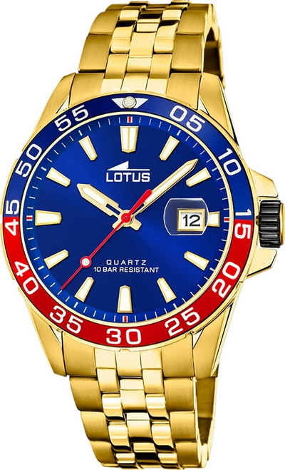 Lotus Quarzuhr »UL18770/3 Lotus Herren Armbanduhr Sport 18770/3«, (Analoguhr), Herrenuhr rund, groß (ca. 44mm), Edelstahl, Edelstahlarmband, Fashion-Style