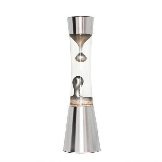Licht-Erlebnisse Lavalampe »SANDRO Magmalampe Silber 39 cm inkl. Leuchtmittel Retro Tischlampe«