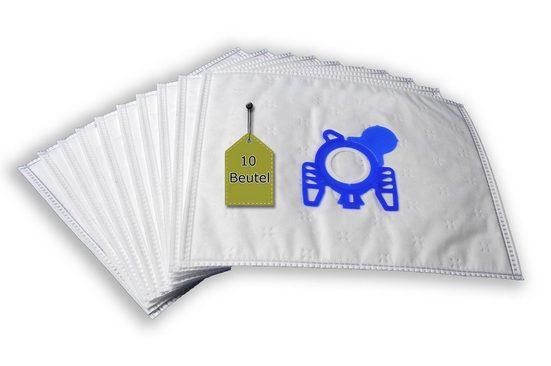 eVendix Staubsaugerbeutel Staubsaugerbeutel passend für Miele Allergy Hepa 4000, 10 Staubbeutel + 2 Mikro-Filter + 2 Motor-Filter ähnlich wie Original Miele Staubsaugerbeutel Typ F, passend für Miele