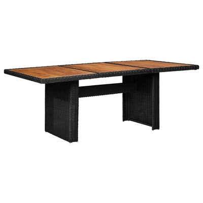 vidaXL Gartentisch »vidaXL Gartentisch Poly Rattan Esstisch Terrassentisch Tisch mehrere Auswahl«