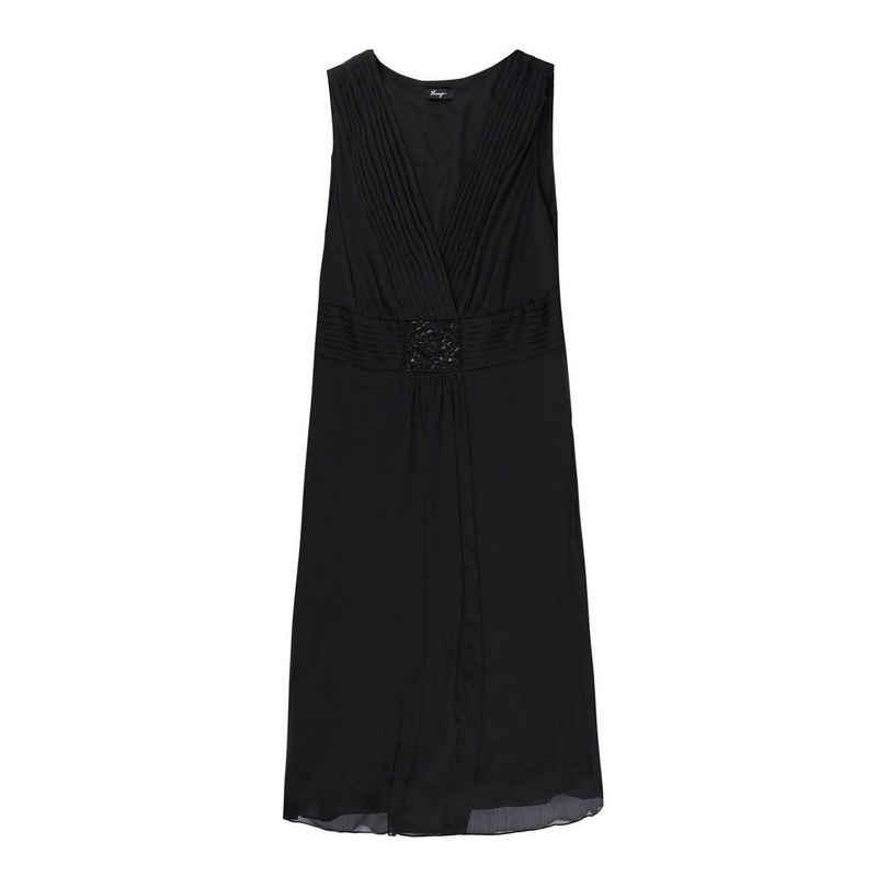 Sheego Abendkleid »sheego Abend-Kleid schickes Damen Midi-Kleid mit Oberteil in Wickel-Optik Große Größen Party-Kleid Schwarz«