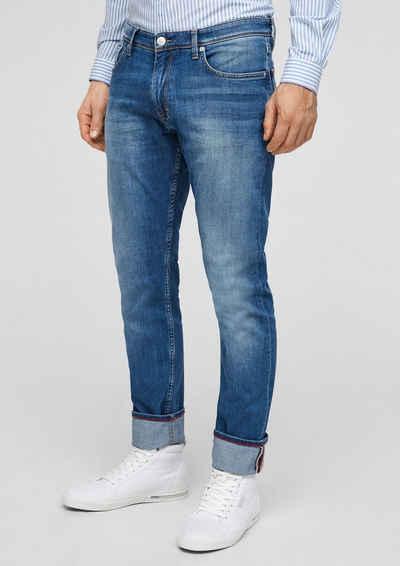 s.Oliver 5-Pocket-Jeans »Slim Fit: Straight leg-Jeans« Waschung, Leder-Patch