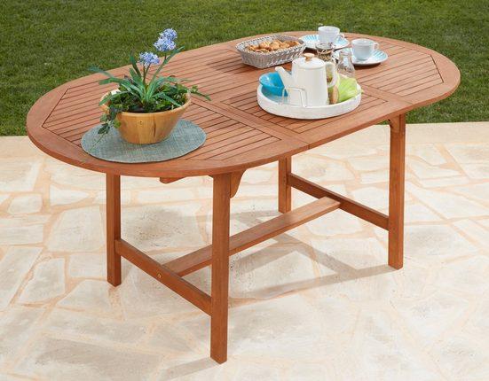 MERXX Gartentisch »Maracaibo«, Eukalyptusholz, ausziehbar, 170x100 cm, braun
