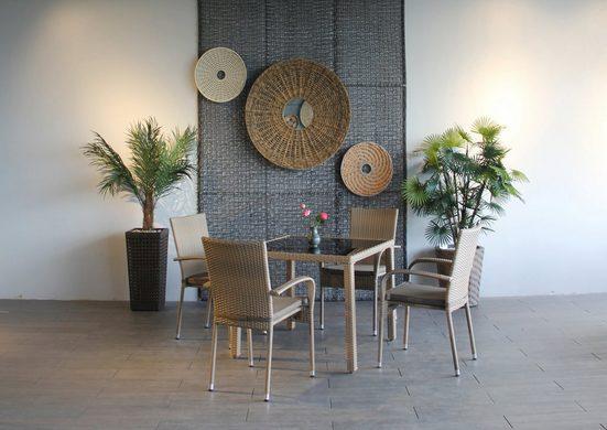 Ploß Gartenstuhl »WINDSOR« (4 Stück), 4er Set, Stahl, klappbar