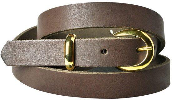 FRONHOFER Taillengürtel »18342« Damengürtel 2 cm schmaler Gürtel goldene Schnalle & Schlaufe