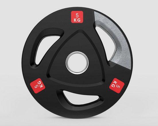 Technofit Hantelscheibe »Hantelscheiben Olympic 2 x 5 kg 50mm Durchmesser«