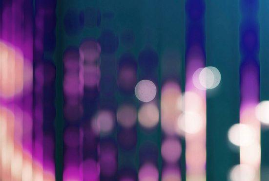 living walls Fototapete »Walls by Patel Big City Lights 3«, glatt, (4 St)