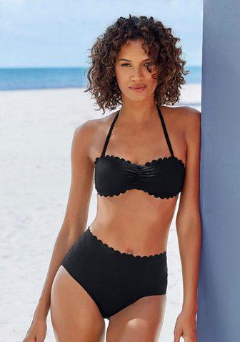 LASCANA Highwaist-Bikini-Hose »Scallop« su gel...