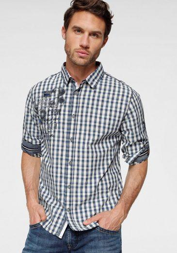 Schlussverkauf CAMP DAVID Langarmhemd mit Umschlagmanschette