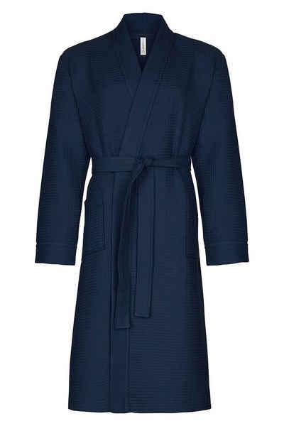 Bademantel »Spa Thalasso«, Taubert, für Herren, im Kimono-Stil, 120 cm, Baumwolle Pique, sehr leichtes und saugfähiges Material, ideal auch als Reisebademantel