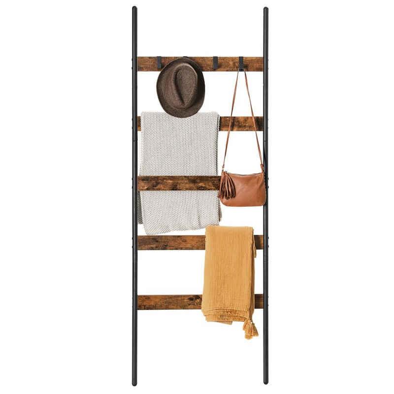 VASAGLE Handtuchleiter »LLS011B01«, Handtuchregal, Leiterregal, Anlehnregal mit 5 Sprossen, 65 cm breit, Industrie-Design