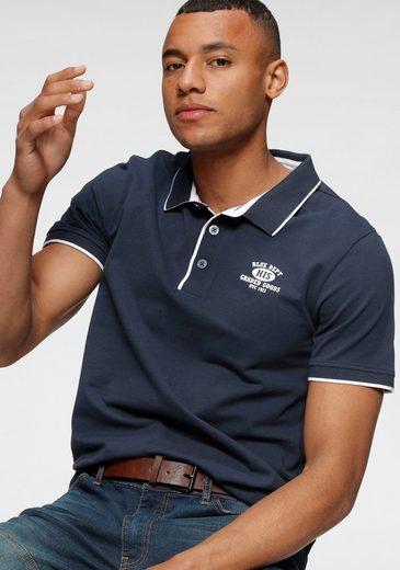 H.I.S Poloshirt in Pique` Qualität, mit bedrucktem Innenkragen