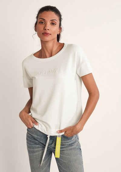 comma casual identity Kurzarmshirt »Sweatshirt mit Stickerei« (1-tlg) Stickerei