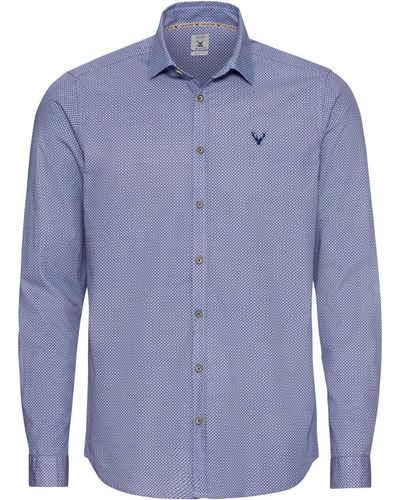 Pure Trachtenhemd »Langarm-Hemd mit Allover-Druck«