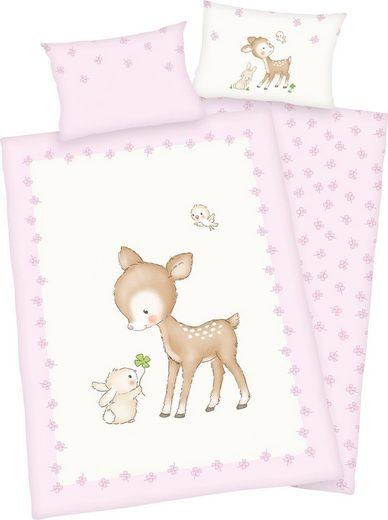 Babybettwäsche »Kleines Reh«, Baby Best, mit niedlichem Motiv
