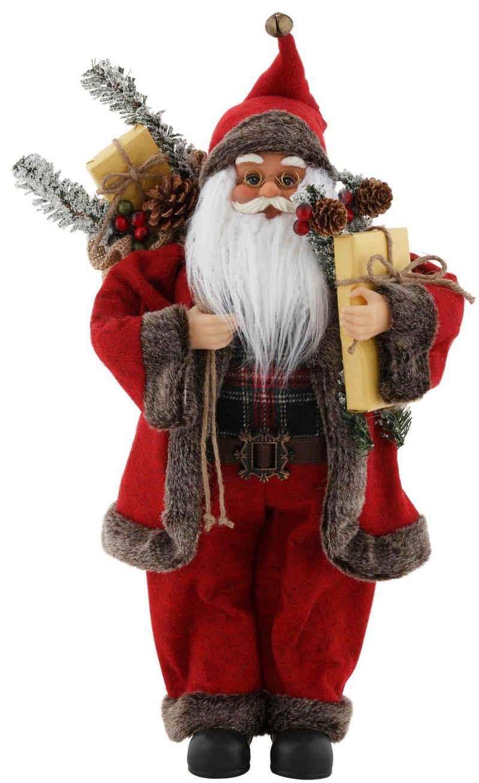 my home Weihnachtsmann, mit Sack und Geschenken, Höhe ca. 45,5 cm