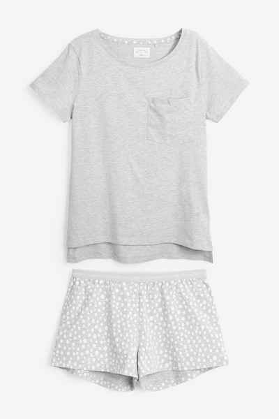 Next Pyjama »Schlafanzug aus Baumwollmischgewebe - Petite« (2 tlg) Short Set