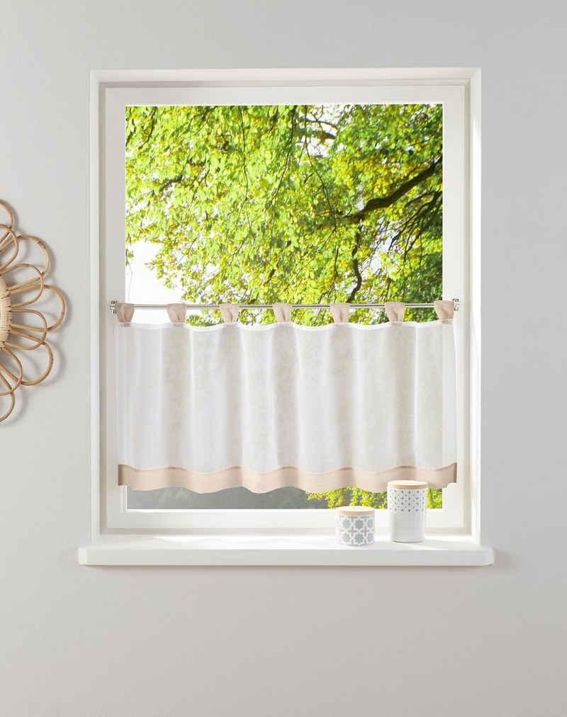 Scheibengardine »Bitola«, my home, Schlaufen (1 Stück), Fertiggardine, transparent