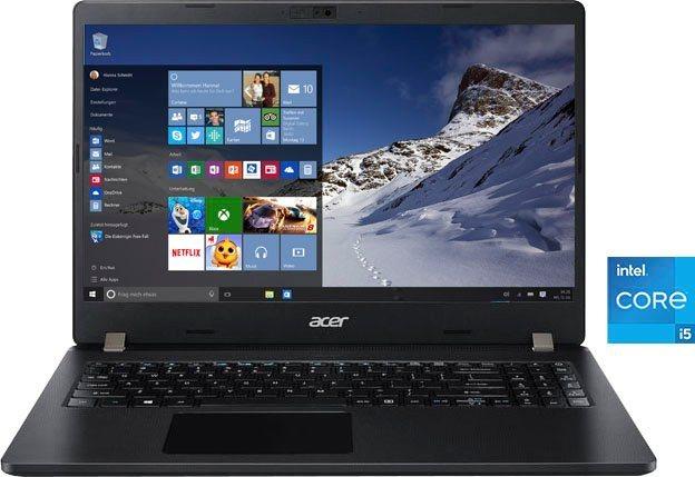 Acer TMP215-53-53NM Notebook 39,62 cm 15,6 Zoll, Intel Core i5, Iris Xe Graphics, 256 GB SSD, Kostenloses Upgrade auf Windows 11, sobald verfügbar